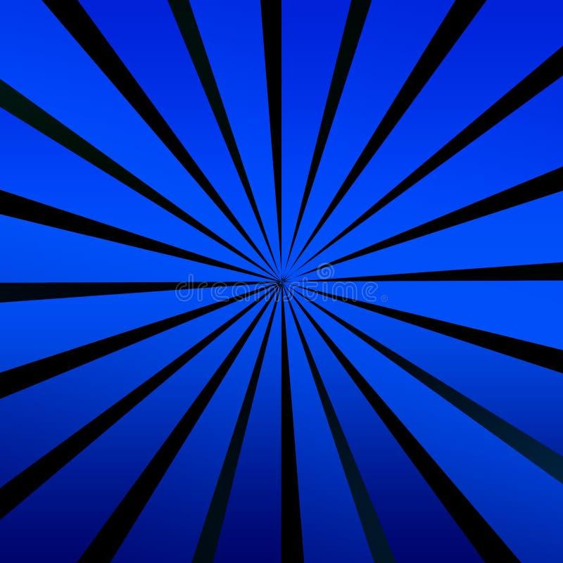 Blaue Rotation vektor abbildung