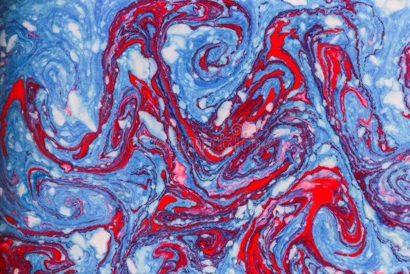 Blaue rote Marmorhintergrundbeschaffenheit stock abbildung