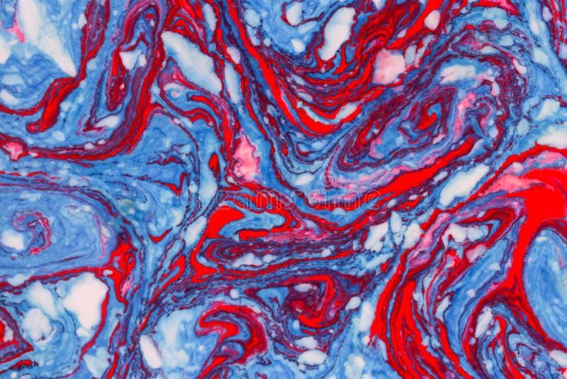 Blaue rote Marmorhintergrundbeschaffenheit lizenzfreie abbildung