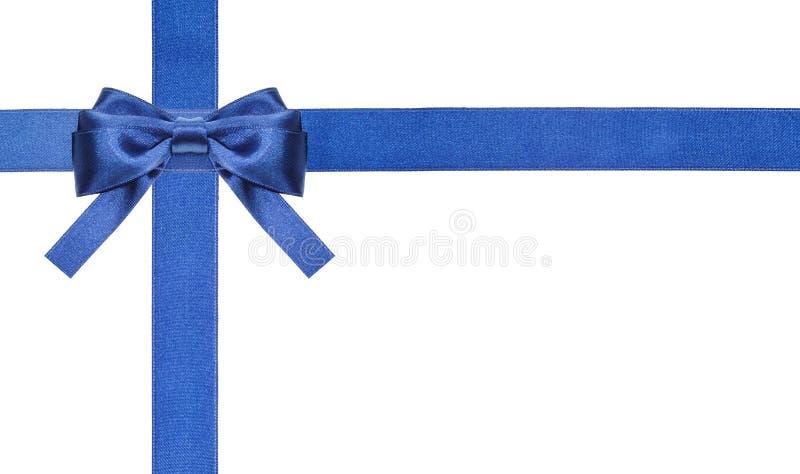 Blaue Satinbögen und -bänder lokalisiert - Satz 2 lizenzfreie stockbilder