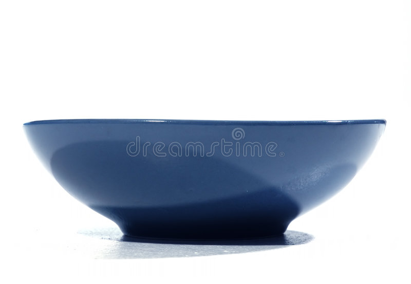 Blaue Schüssel Lizenzfreie Stockbilder