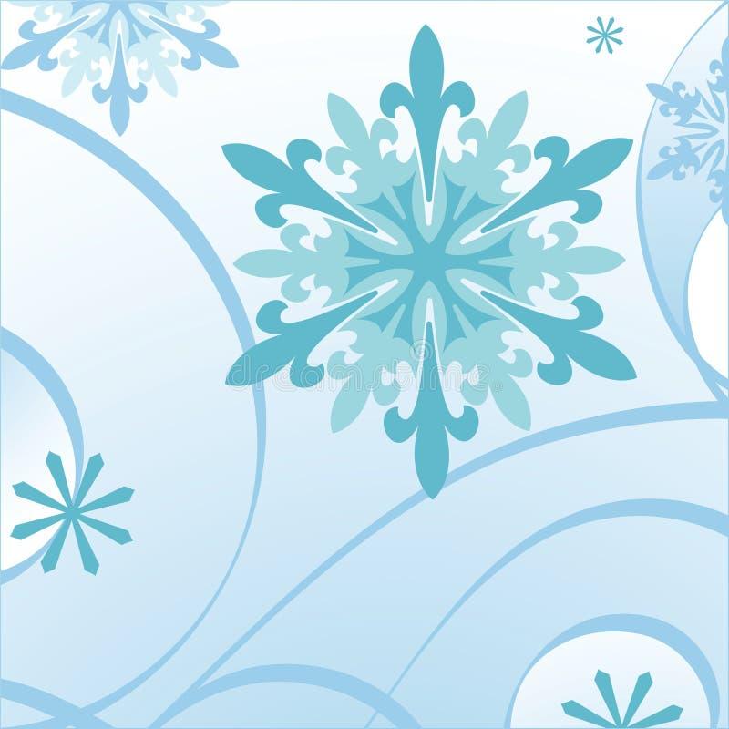 Blaue Schneeflocke stock abbildung