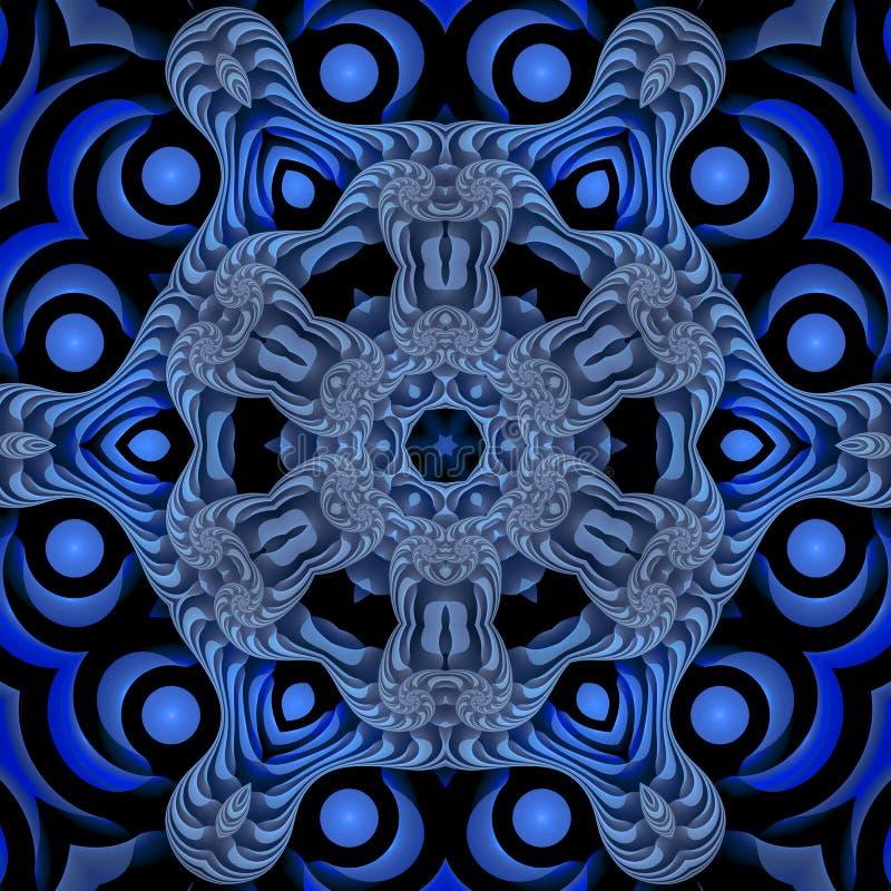Blaue SeeMandala vektor abbildung