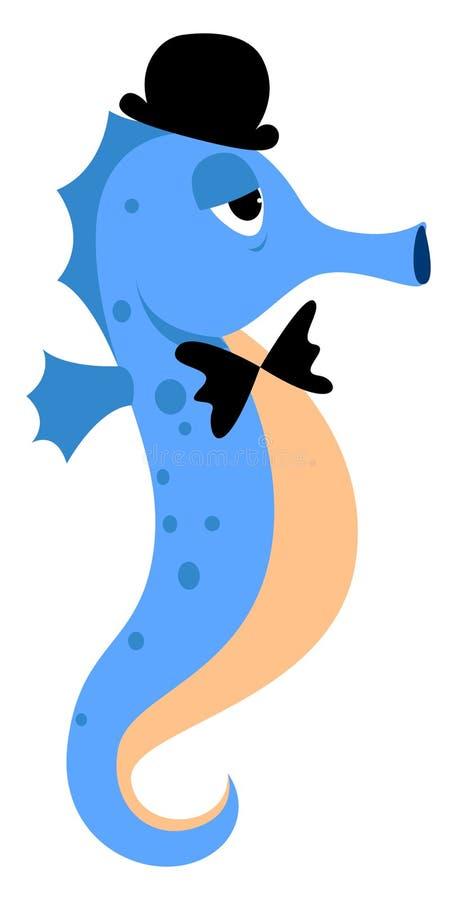 Blaue Seepferdchen, Illustration, Vektor vektor abbildung