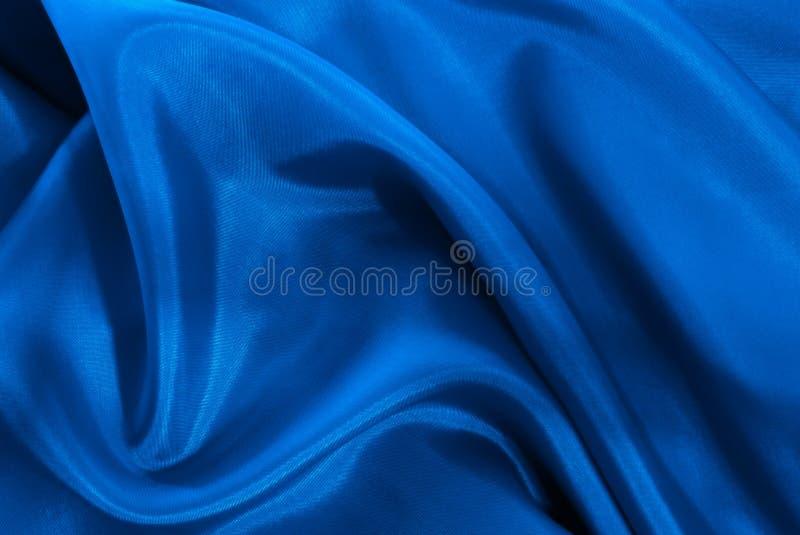 Blaue Seide lizenzfreie stockfotos