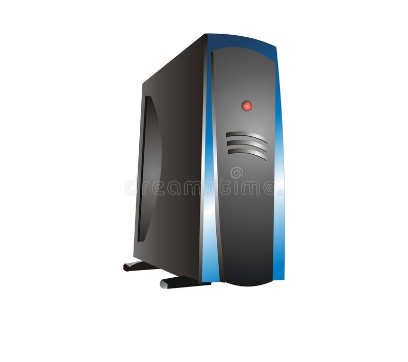 Blaue Server-Bewirtung lizenzfreie abbildung