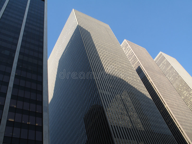 Blaue Skyline Lizenzfreies Stockfoto