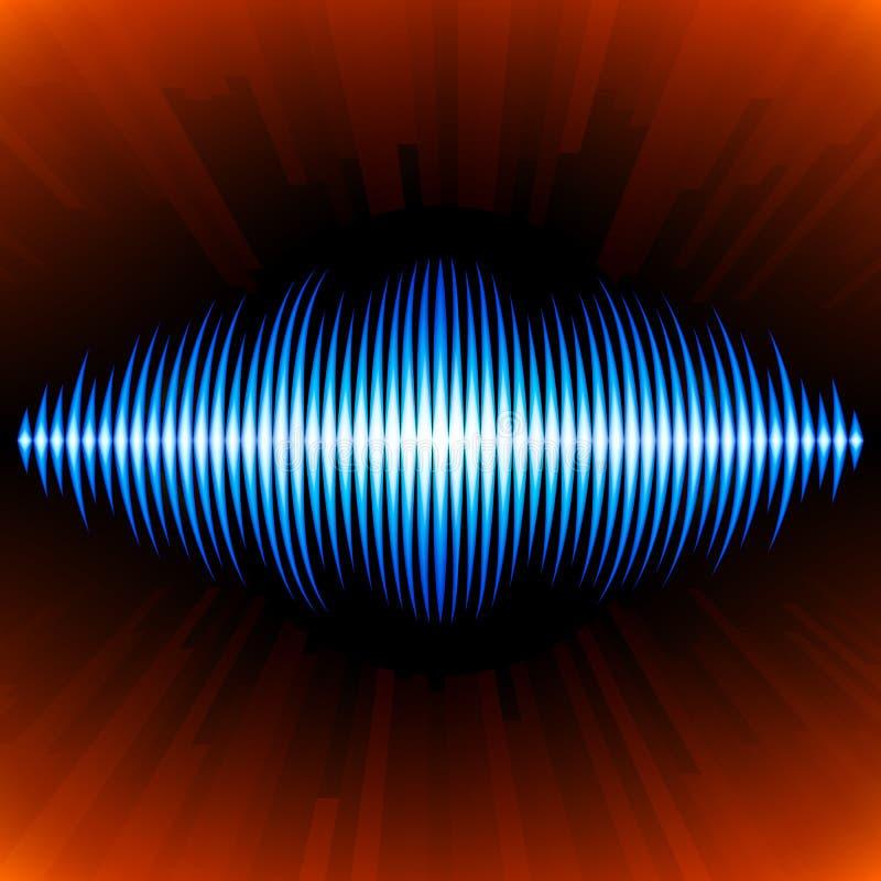 Blaue solide Wellenform vektor abbildung