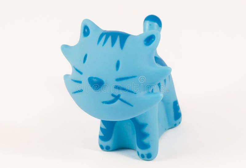 Blaue Spielzeugkatze stockfotografie