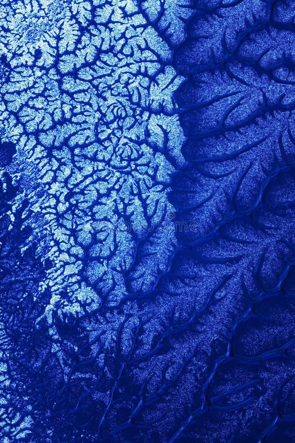 Blaue Spuren stockfotos