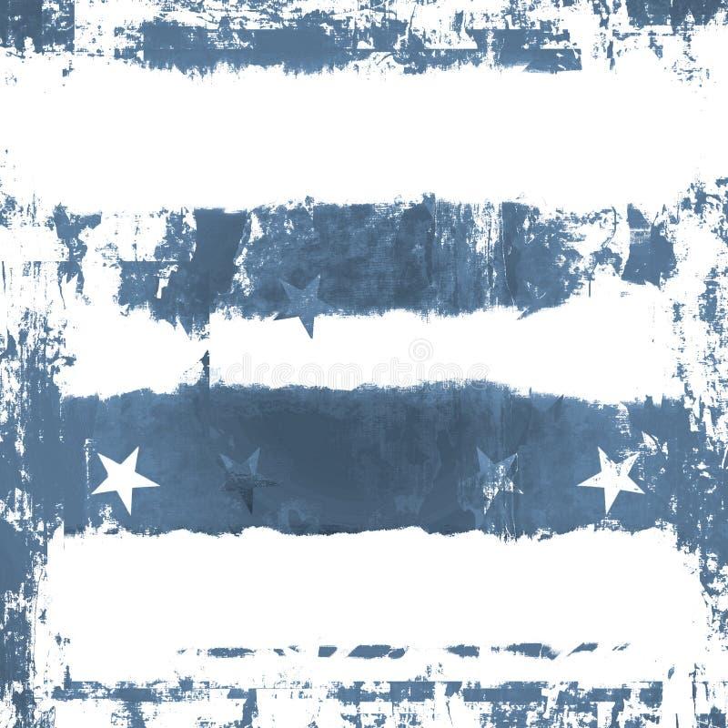 Blaue Sterne Grunge lizenzfreie abbildung
