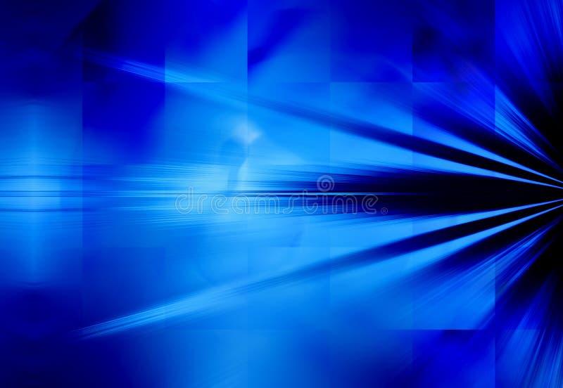 Blaue Strahlen des Leuchte-Hintergrundes stock abbildung