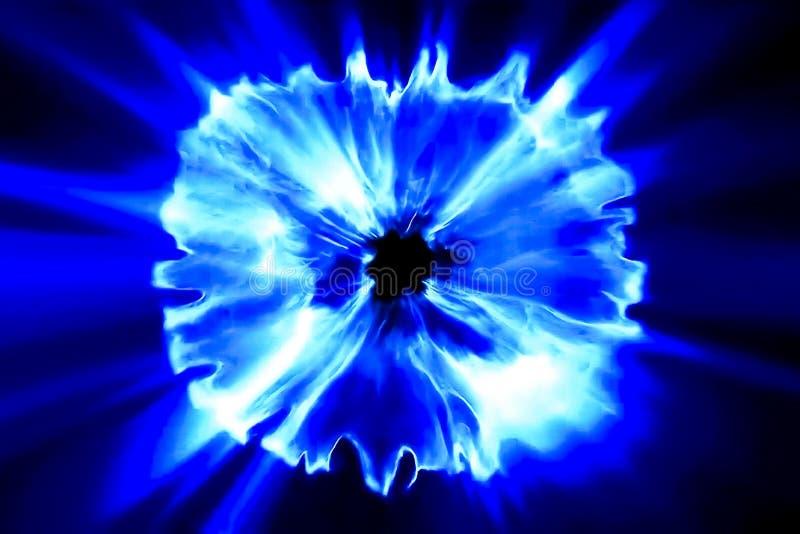 Blaue Strahlen, große Plasmaexplosion Illustration stockfotografie
