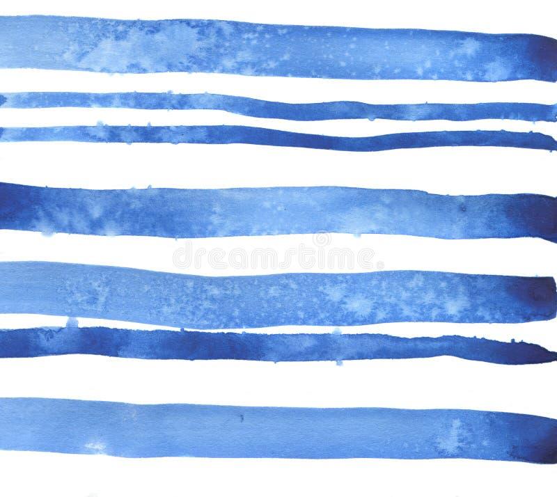 Blaue Streifen-Hintergrund Dekoratives Bild einer Flugwesenschwalbe ein Blatt Papier in seinem Schnabel lizenzfreies stockfoto