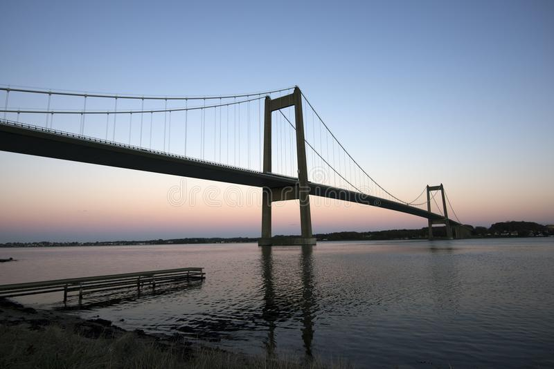 Blaue Stundenbrücke stockfoto