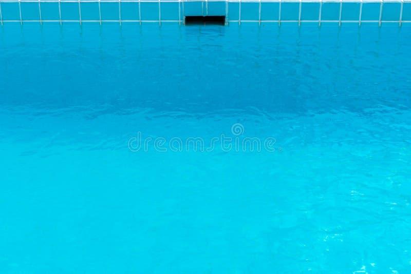 Blaue Swimmingpoolbeschaffenheit der Wasseroberfläche stock abbildung