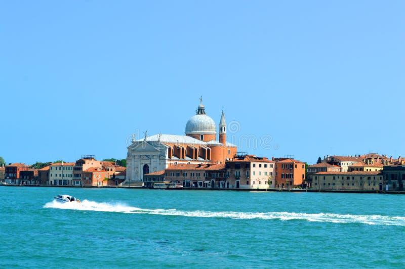 Blaue Szene in Venedig Italien lizenzfreie stockfotografie