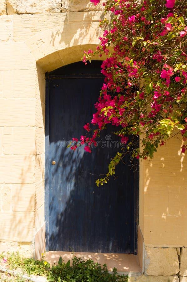 Blaue Tür Gozo lizenzfreie stockfotos