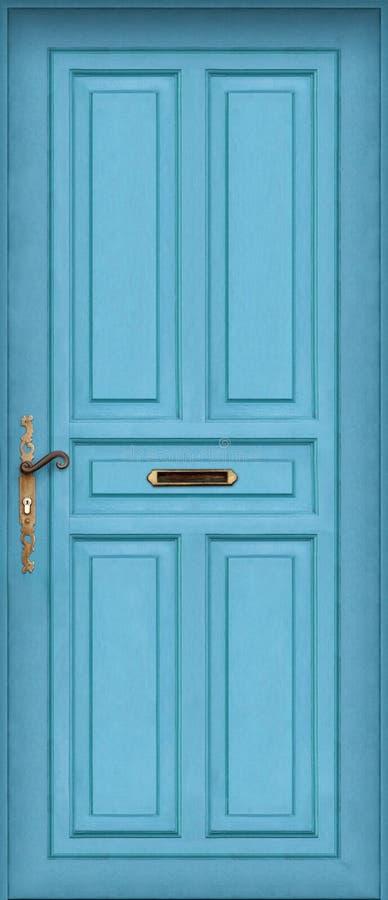 Blaue Tür - mit Briefkasten lizenzfreie stockbilder