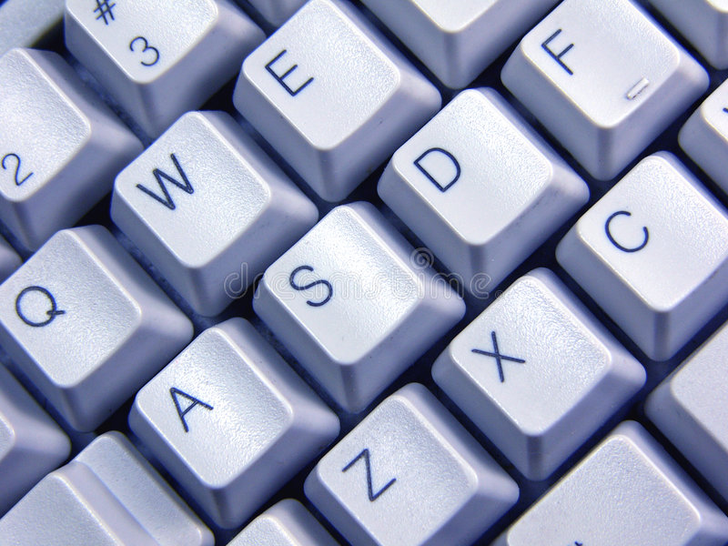 Blaue Tastatur stockfoto