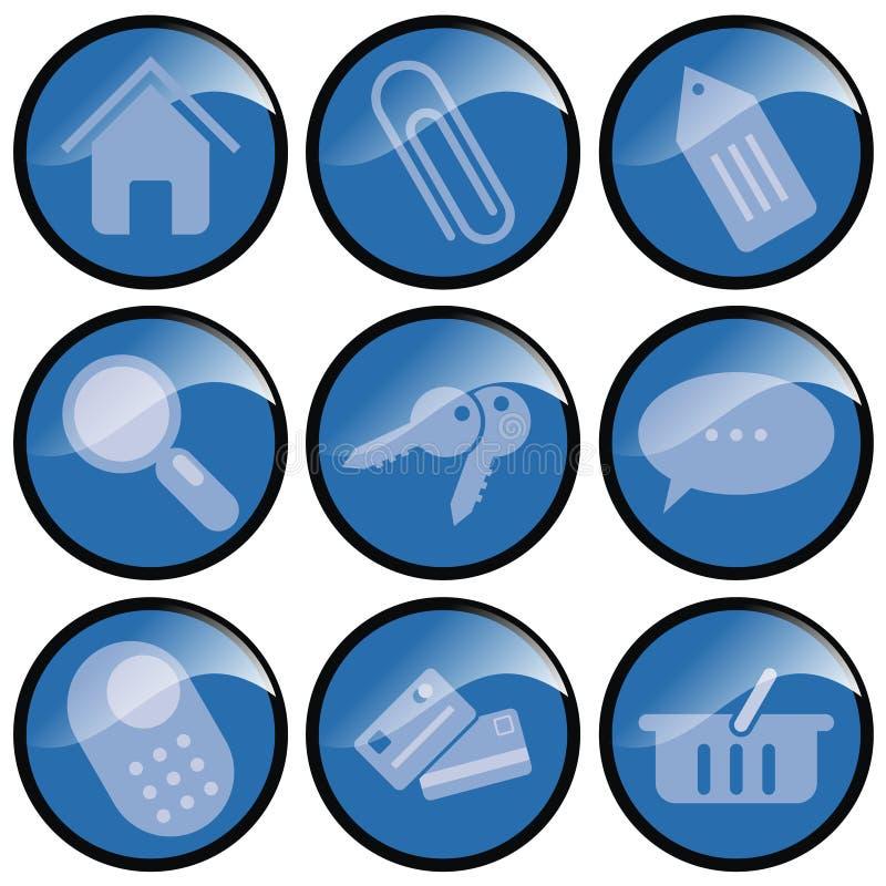 Blaue Tasten-Ikonen