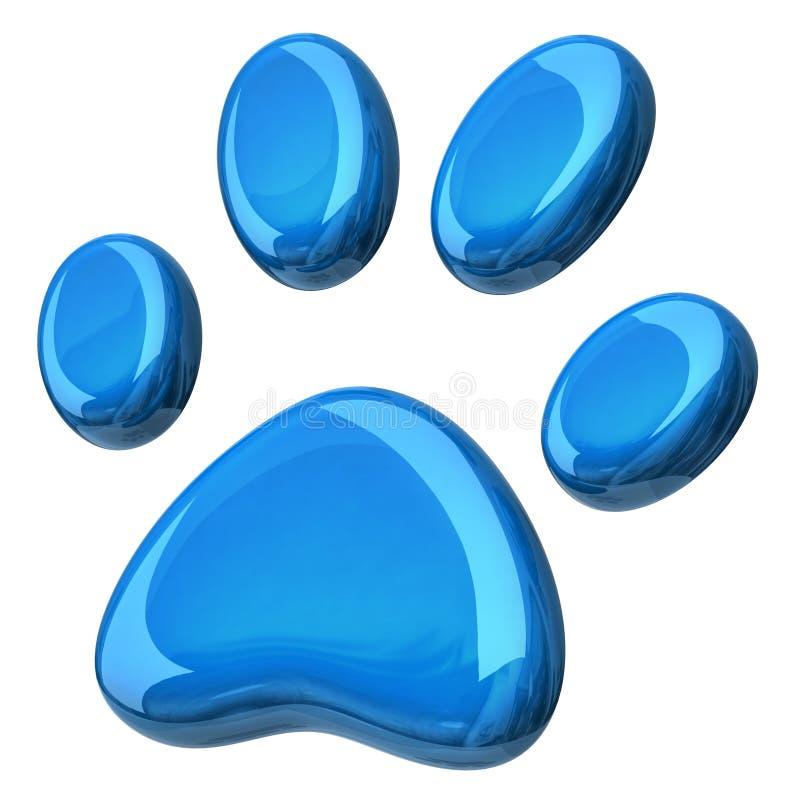 blaue tatze stock abbildung illustration von tier