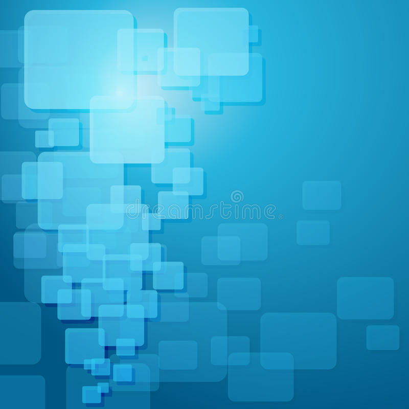Blaue techno Schablone. vektor abbildung