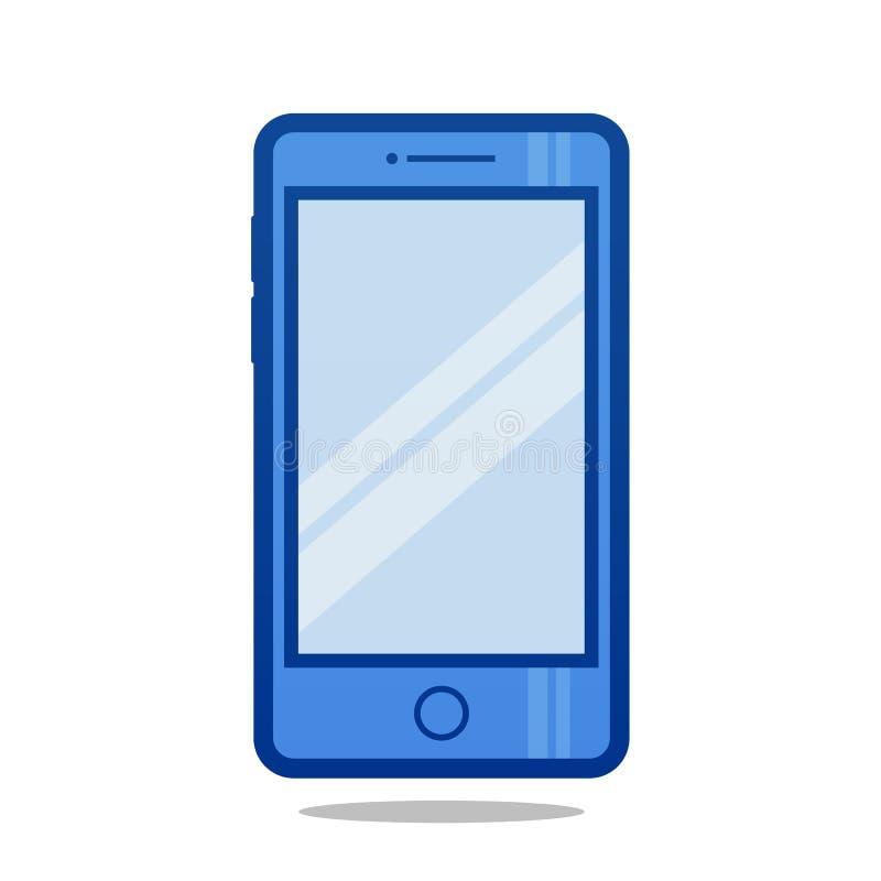 Blaue Telefon-Illustration stockfotografie