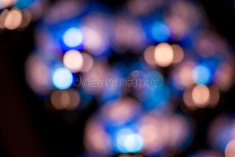 Blaue Tone Bokeh Background From Lamp stockbilder