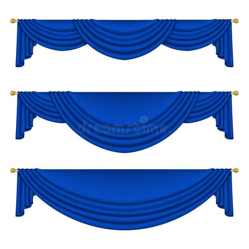 Blaue Trennvorhänge lizenzfreie abbildung