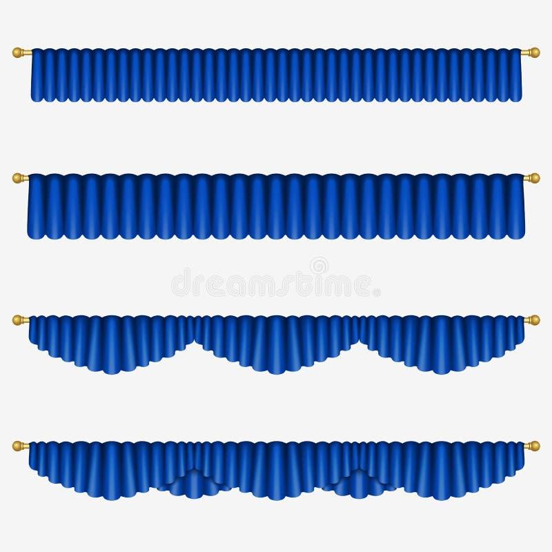 Blaue Trennvorhänge vektor abbildung
