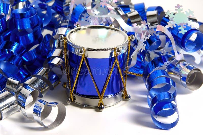 Download Blaue Trommel stockbild. Bild von vertreter, farbband, dekoration - 43699