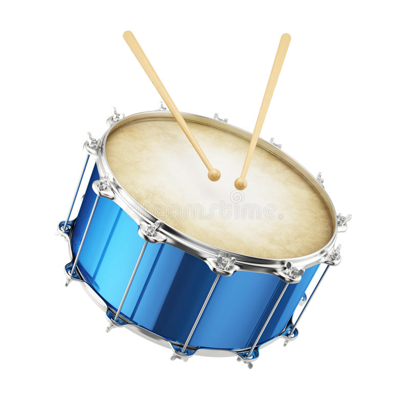 Blaue Trommel lokalisiert stock abbildung