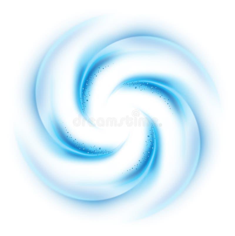 Blaue Turbulenz stock abbildung