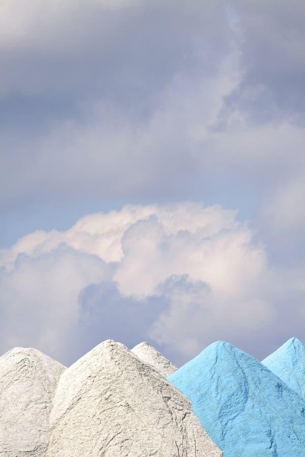 Blaue u. weiße Silikon-Dämme stockfoto