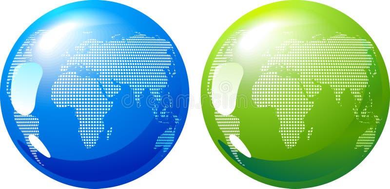 Blaue und grüne Erde - eco Energiekonzept vektor abbildung