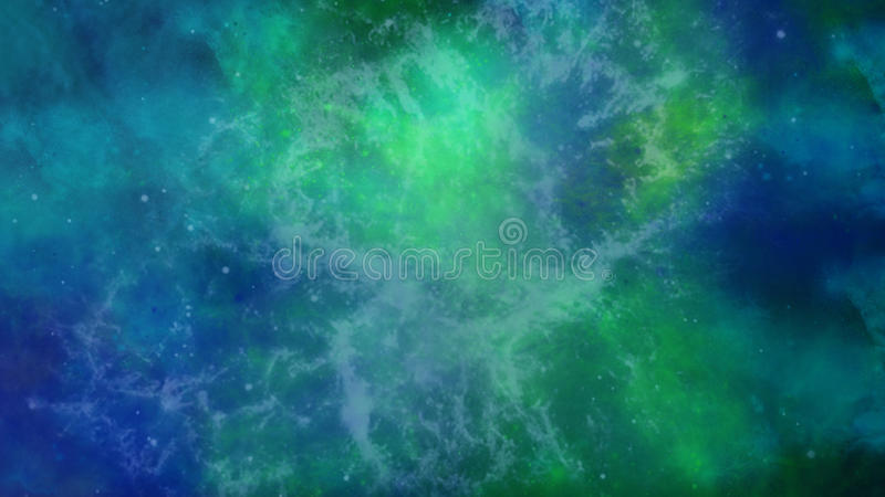 Blaue und grüne Galaxie stockbilder