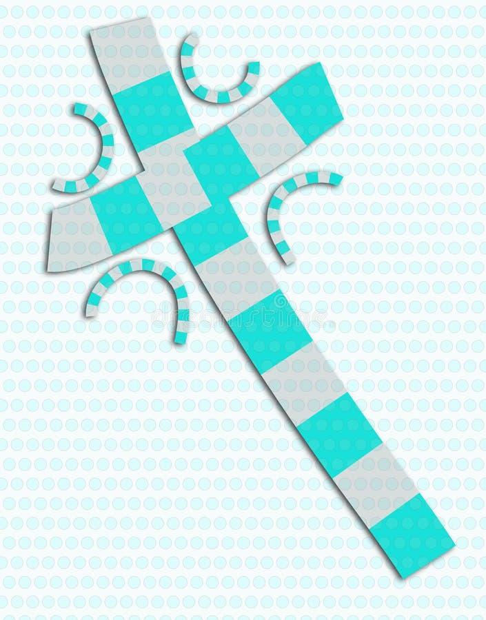 Blaue und graue abstrakte Quercollage lizenzfreie abbildung