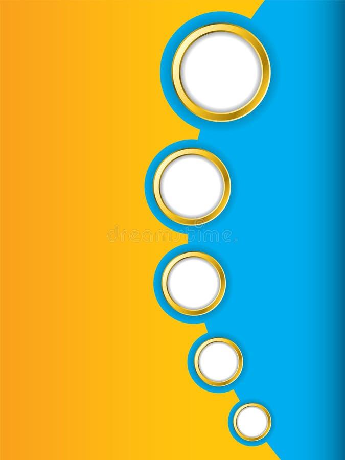 Blaue und orange Broschüreauslegung stock abbildung