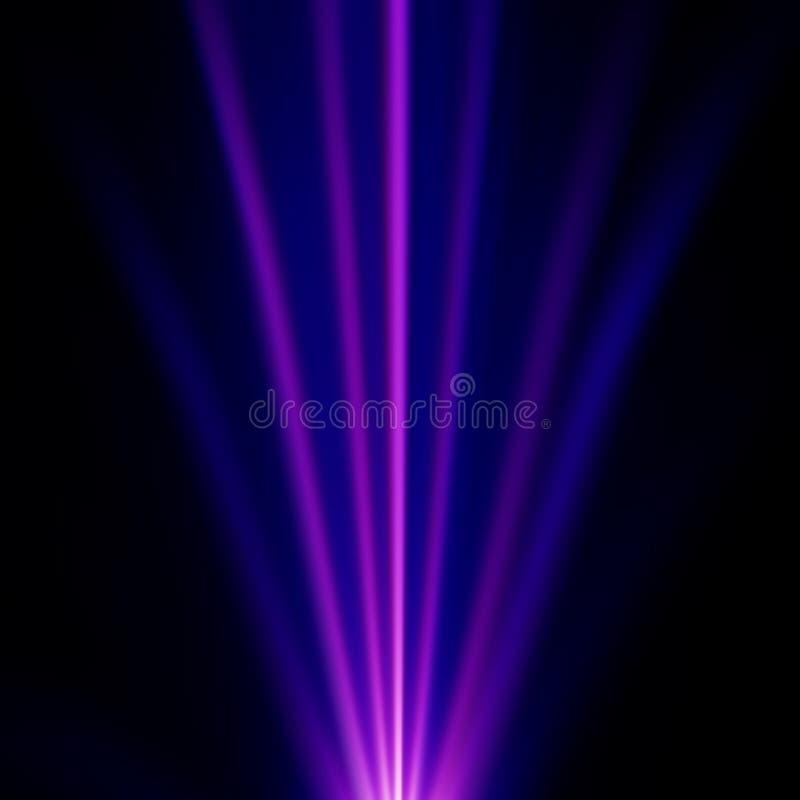 Blaue und purpurrote Leuchte stock abbildung