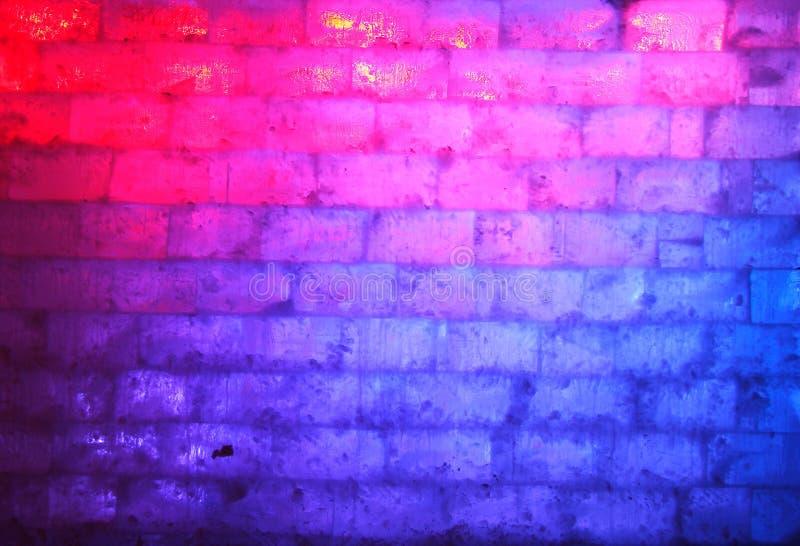 Blaue und rote Wand des Eises stockbilder