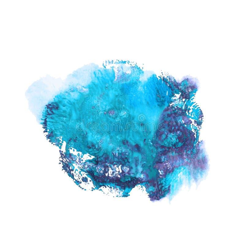Blaue und violette helle Farbacrylfarben-Zusammenfassungsstelle lizenzfreie abbildung
