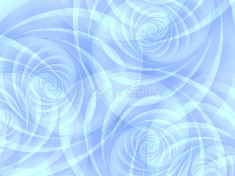Blaue undurchlässige Strudel-Spiralen stock abbildung