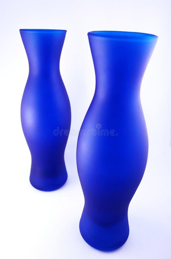 Blaue Vasen lizenzfreie stockbilder