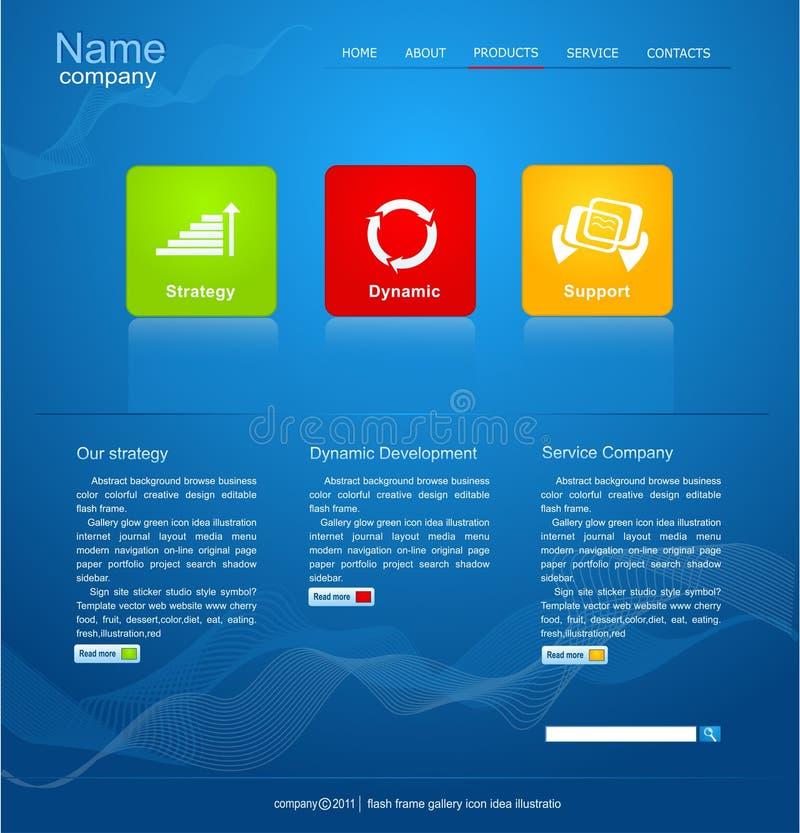 Blaue vektorweb site für Geschäft vektor abbildung