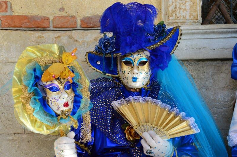 Blaue venetianische Schablone stockbild