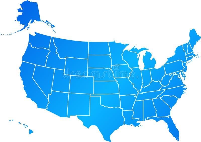 Blaue Vereinigte Staaten stock abbildung