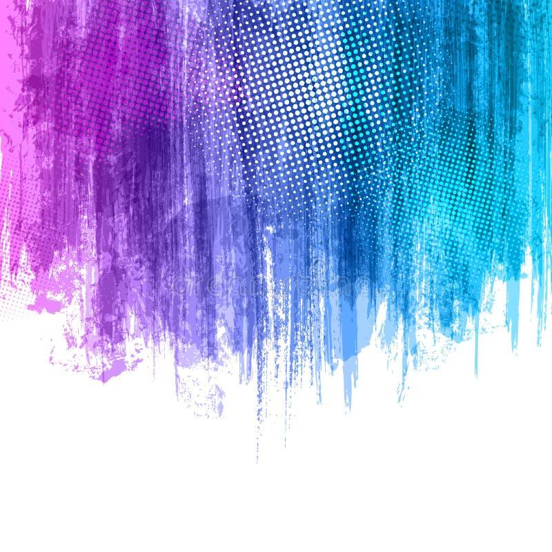 Blaue Violet Paint Splashes Gradient Background Vector Designillustration ENV 10 mit Platz für Ihren Text und Logo lizenzfreie abbildung
