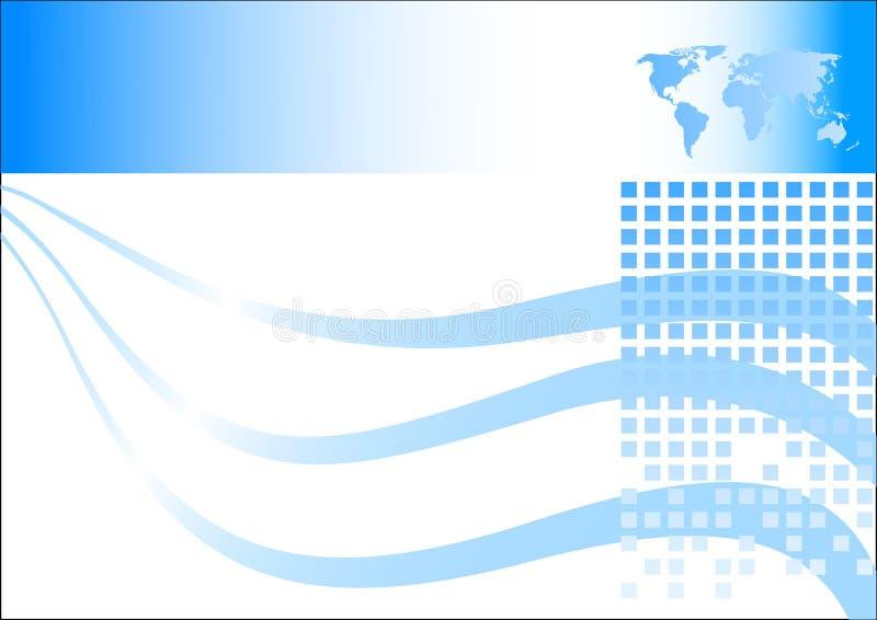 Blaue Visitenkarte lizenzfreie abbildung