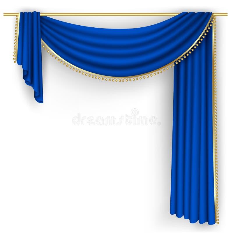Pennywise Hintergrund: Blaue Vorhang Masche Vektor Abbildung. Illustration Von